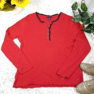 Tommy hilfiger Long sleeves top buttom sz Xl